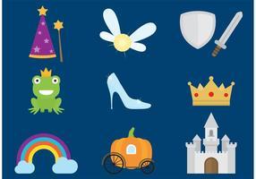 En gång i tiden Cinderella Vectors