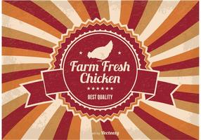 Bauernhof Frische Huhn Illustration vektor