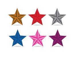 3D Vector Stjärnor