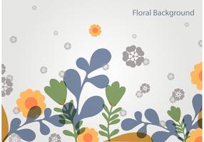 Enkel blommig vektor landskap