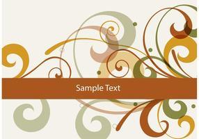 Brown Swirl Vektor Hintergrund