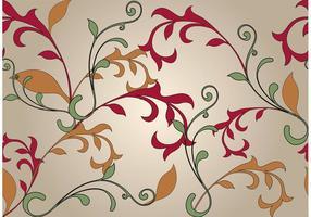 Swirly Blumenhintergrund vektor