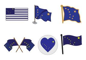 Vektor Alaska Flaggor