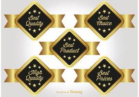Gold Werbe-Etiketten