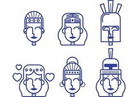 Athena grekiska gudinnes vektorer