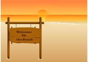 Willkommen am Strand vektor