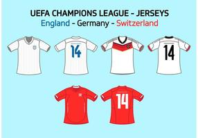 UEFA-lagtröjor England Tyskland Schweiz Vector Free