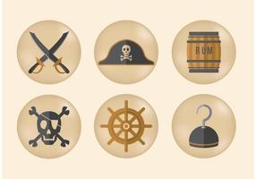 Piratvektorikoner vektor