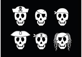 Piratskalle Ikonvektor vektor