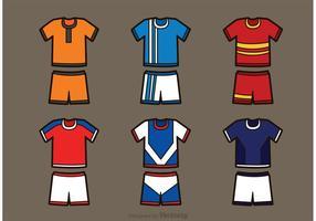Ställ av fotbollsport Jersey vektorer