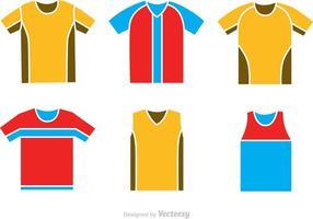 Fußball Jersey Icons Vektoren