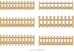 Wooden Picket Zaun Vektoren