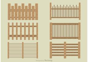 Set von modernen Picket Zaun Vektoren