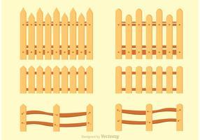 Variation von Picket-Zaun-Vektoren vektor