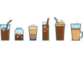 Free Iced Kaffeetasse Vektoren