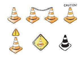 Free Orange Cone Vector Serie