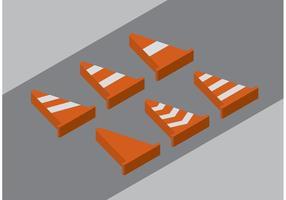 Orange Kegel Vektoren