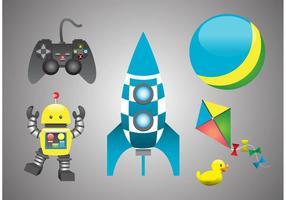 Leksaker för barn vektorer