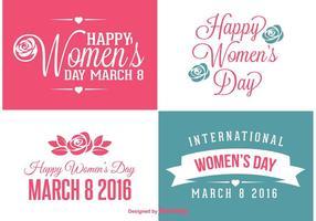 Kvinnans dag etiketter vektor