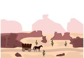 Wilder Westen Vektor Hintergrund