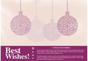 Karte Beste Wünsche Vektor mit Ornamenten