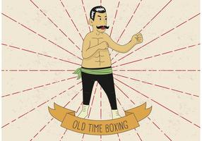 OLD TIME BOXING VECTOR ILLUSTRATION