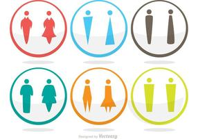 Moderne Rest Room Icons Vector Pack
