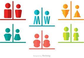 Mann und Frau Rest Raum Split Icons Vector Pack