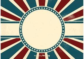 Vintage patriotisk bakgrund vektor