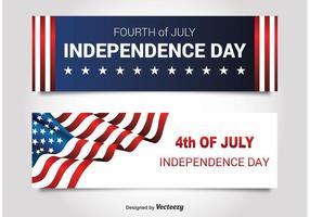 Självständighetsdag banners vektor