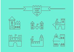 Free vector lineare fort Symbole