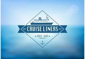 Free Cruise Liner Label Vektor