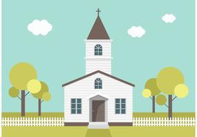 Freie Land Kirche Vektor