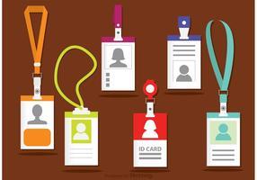 Identifikationskartenvorlage Vektoren