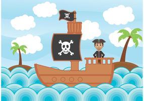 Piratillustration vektorer