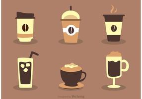 Kaffedrycksvektorer