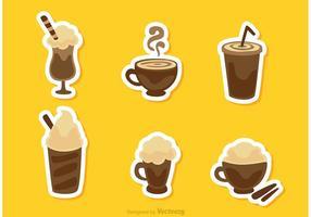 Insamling av kaffe dricker vektorpaket