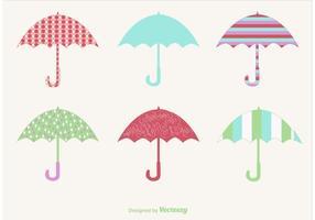 Regnerische Vektor Regenschirme