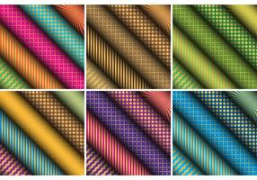 Patterned Scrolled Paper Vectors