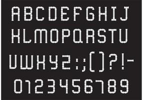 Pfeife Alphabet Typ Vektor Pack