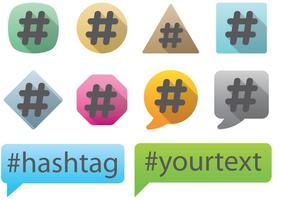 Hashtag vektorer