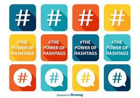 Hashtag Icon Set