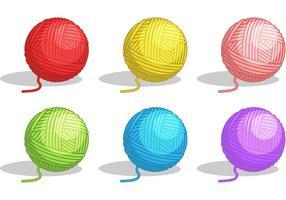 Ball von Garn Vektoren