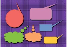 Tala högre! Textboxmallvektorer vektor