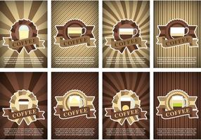 Kaffee Poster Vektoren