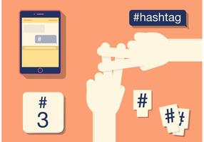 Olika former av en Hashtag vektor