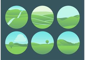 Vackra Rolling Hills Landskapsvektorer vektor