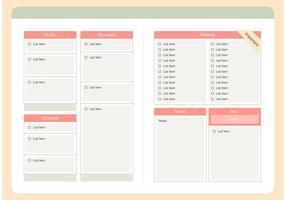 Moderne Checkliste Vorlage Vektor Set