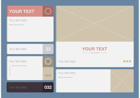 Moderne Textfeld Vorlage Vektor Set