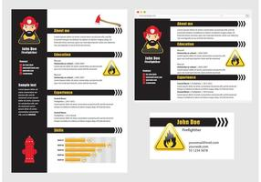 Vector Curriculum Vitae Feuerwehrmann